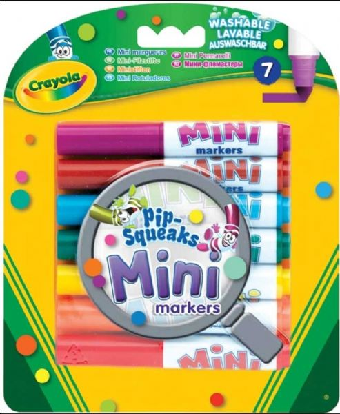Crayola Pip Squeaks Mini Markers Packs - Washable Colouring Felt Tip Pens